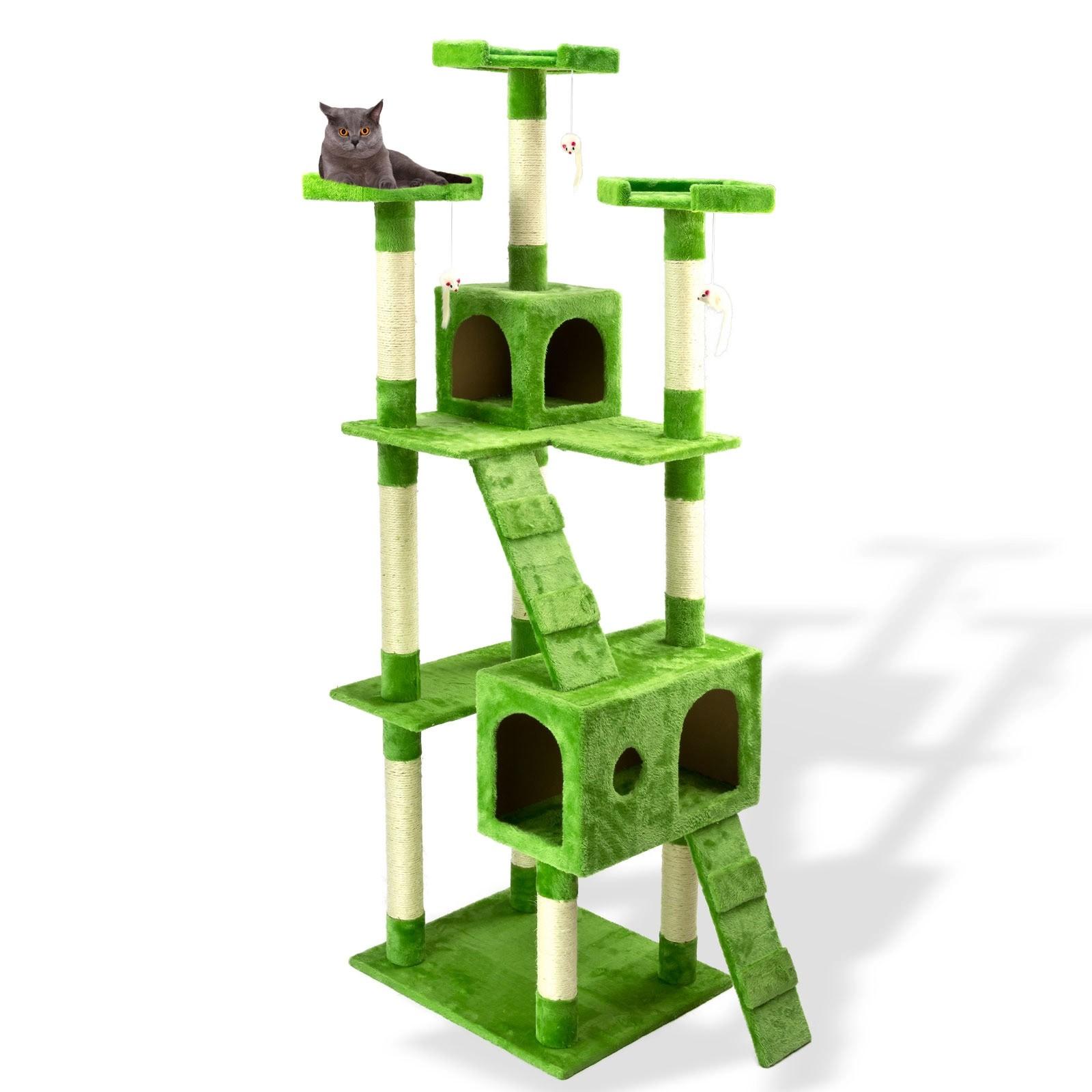 katzen kratzbaum katzenbaum gr n 180 cm. Black Bedroom Furniture Sets. Home Design Ideas