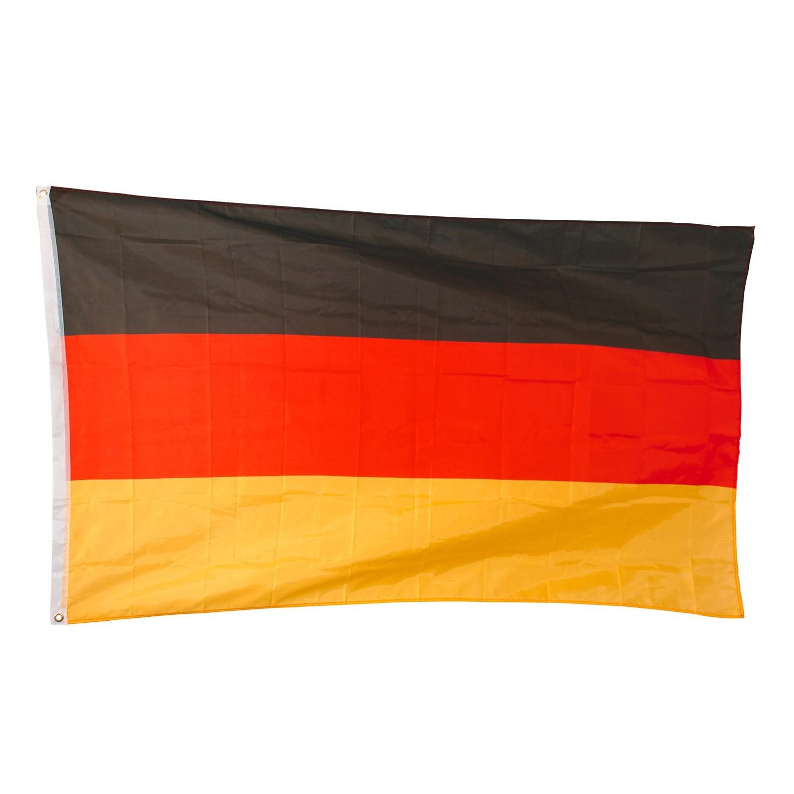 Dema 10 Stk. Deutschlandfahne / Deutschlandflagge 90x150 cm 94006x10