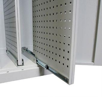 Vertikalauszugschrank / Werkstattschrank VS2 lichtgrau – Bild $_i
