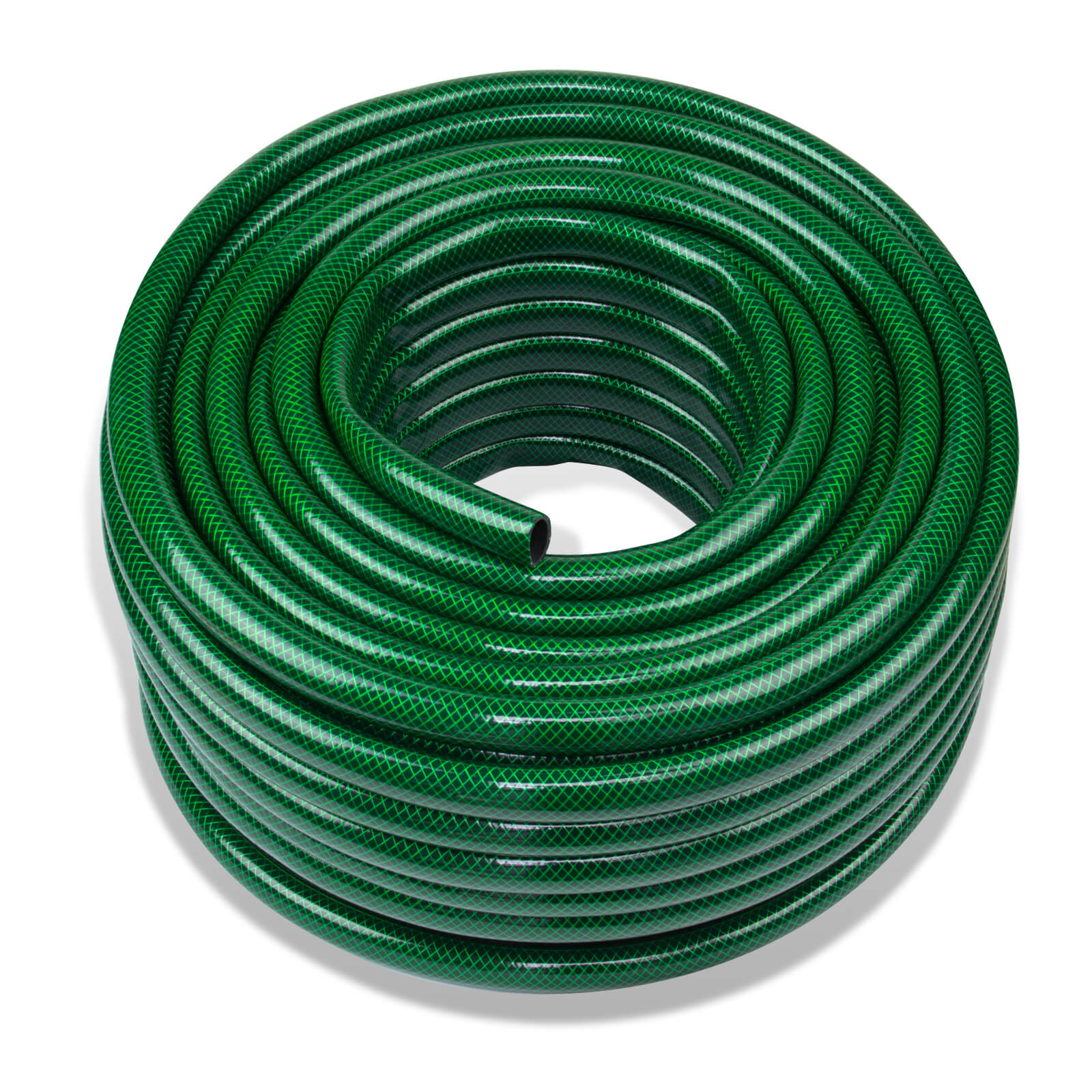 Stabilo-Sanitaer Gartenschlauch / PVC Wasserschlauch 3/4 Zoll - 50 m - grün - 3-lagig