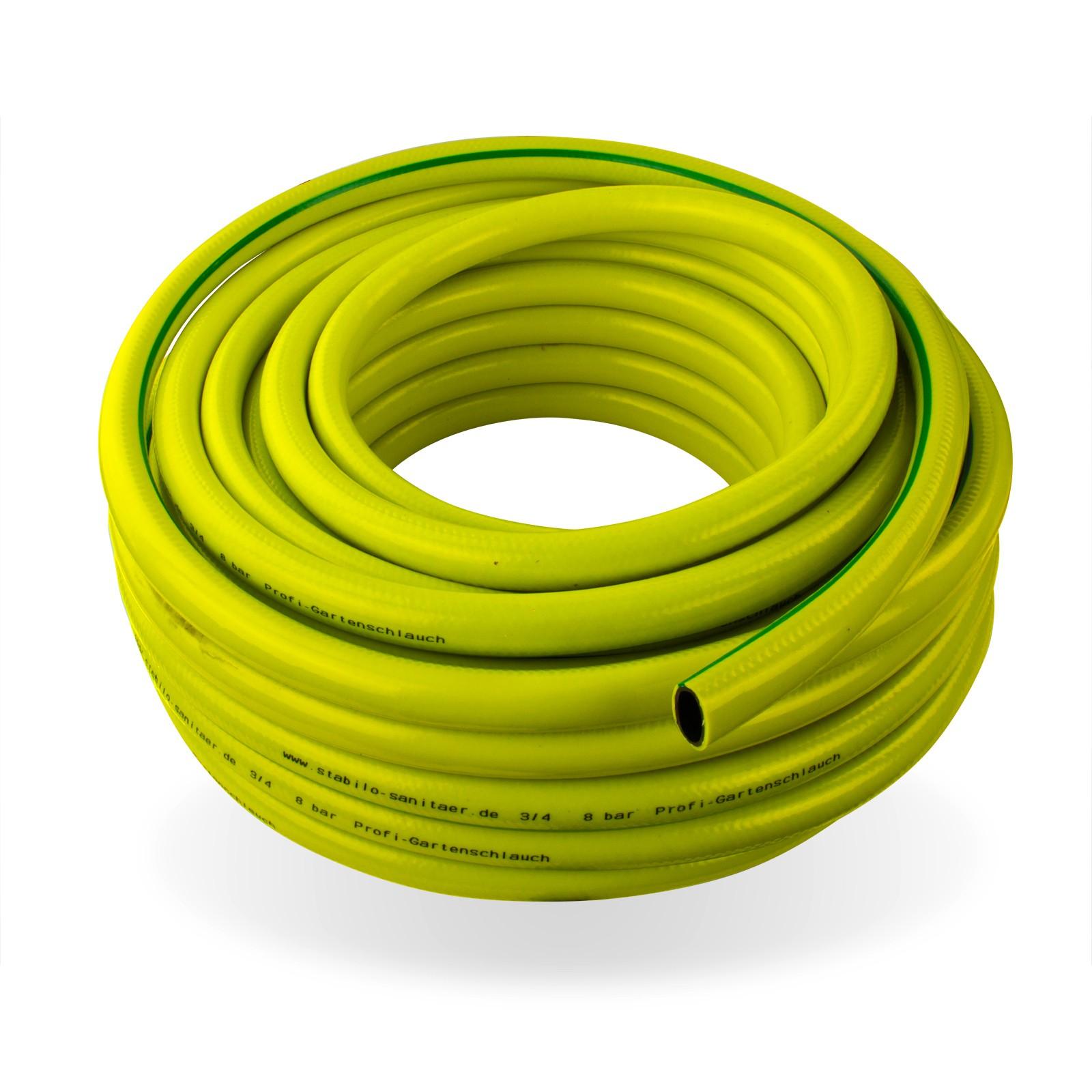 Stabilo-Sanitaer Profi Gartenschlauch / Wasserschlauch 1/2 Zoll / 50 m gelb