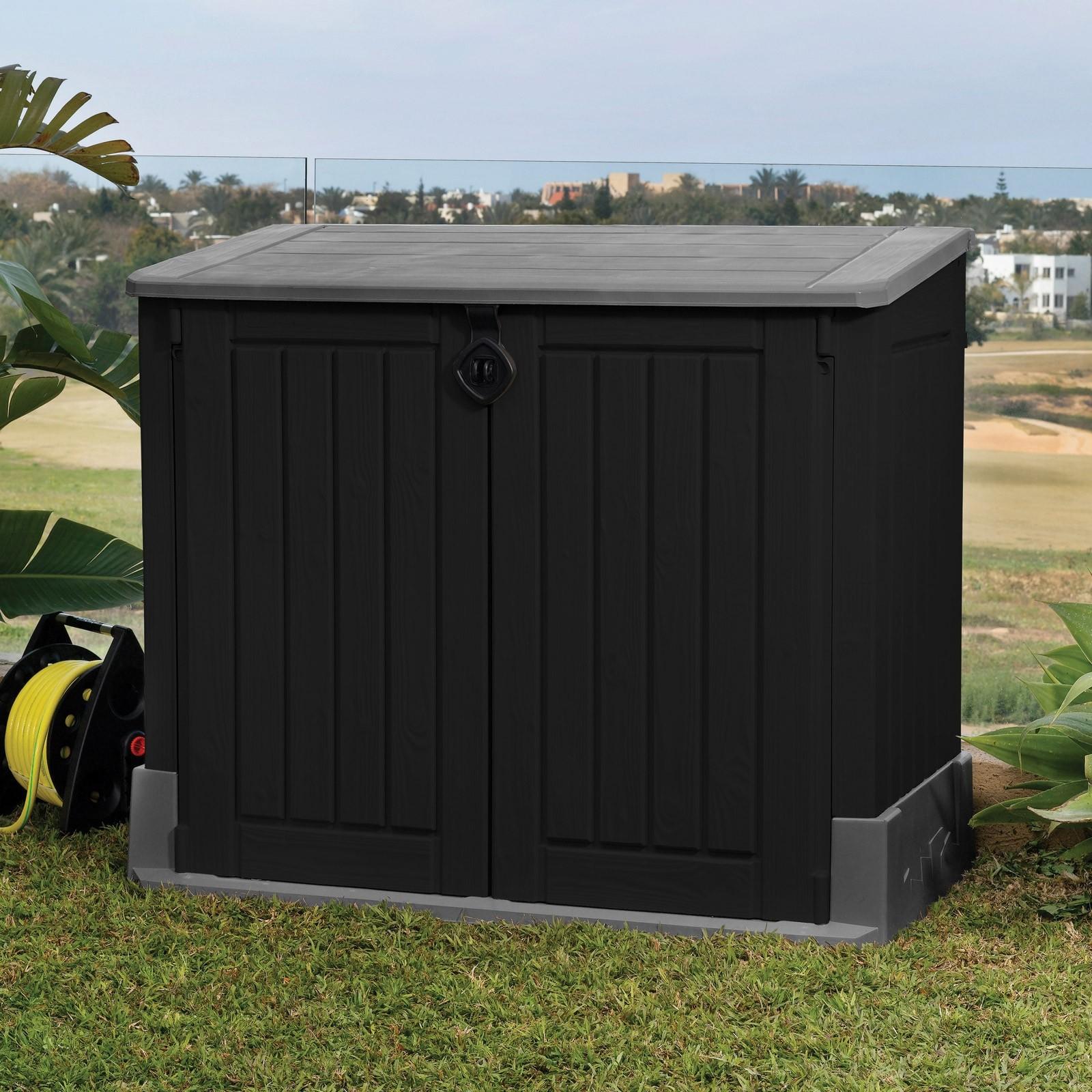 keter mülltonnenbox store it out midi für 2x120 liter