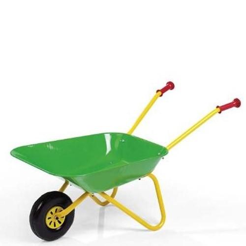 Rolly Toys Kinderschubkarre Grün aus Metall Spielzeugkarre 10498
