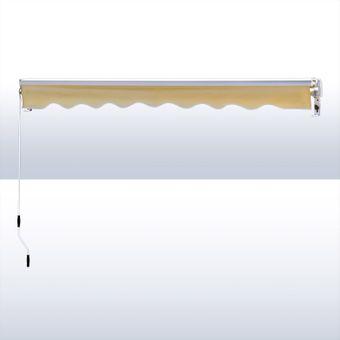 Alu Markise beige 3 x 2,5 m Gelenkarmmarkise Sonnenschutz Sichtschutz – Bild $_i