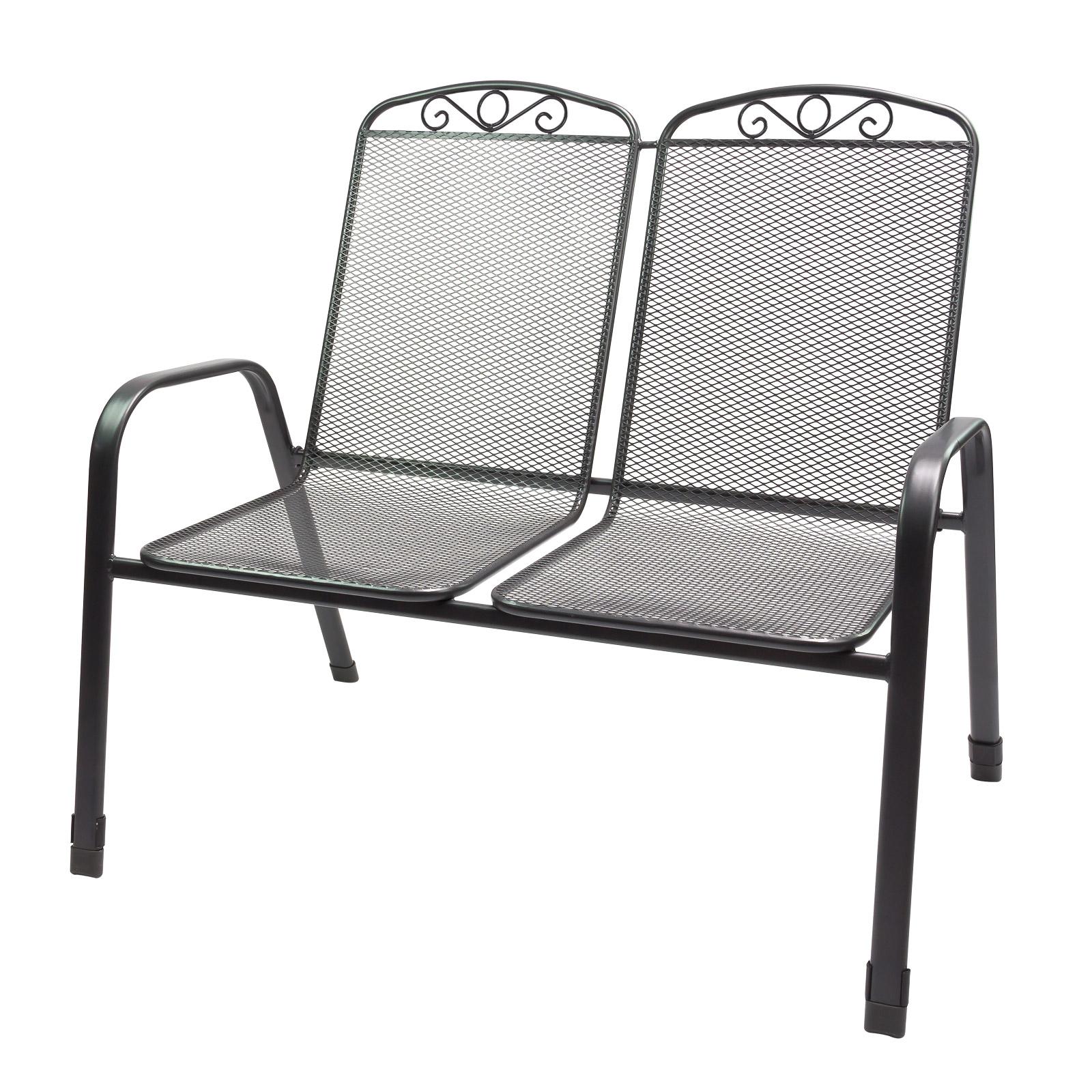 Dema Gartenstuhl Doppelsitzer Zweisitzer Virginia Streckmetall Stapelbar bis 180kg 94048