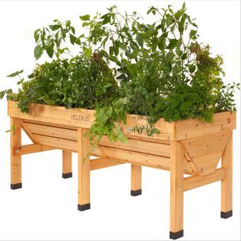 VegTrug Hochbeet / Blumenkasten Holz Maxi 180x76x80 mit Vlies