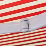 Alu Markise rot / beige 3 x 2,5 m