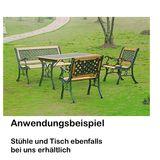 Parkbank Gartenbank -Sonja- Gusseisen / Holzbank 127x52x74