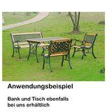 Gartenstuhl Gartensessel -Sonja- Gusseisen / Holz 64x49x73