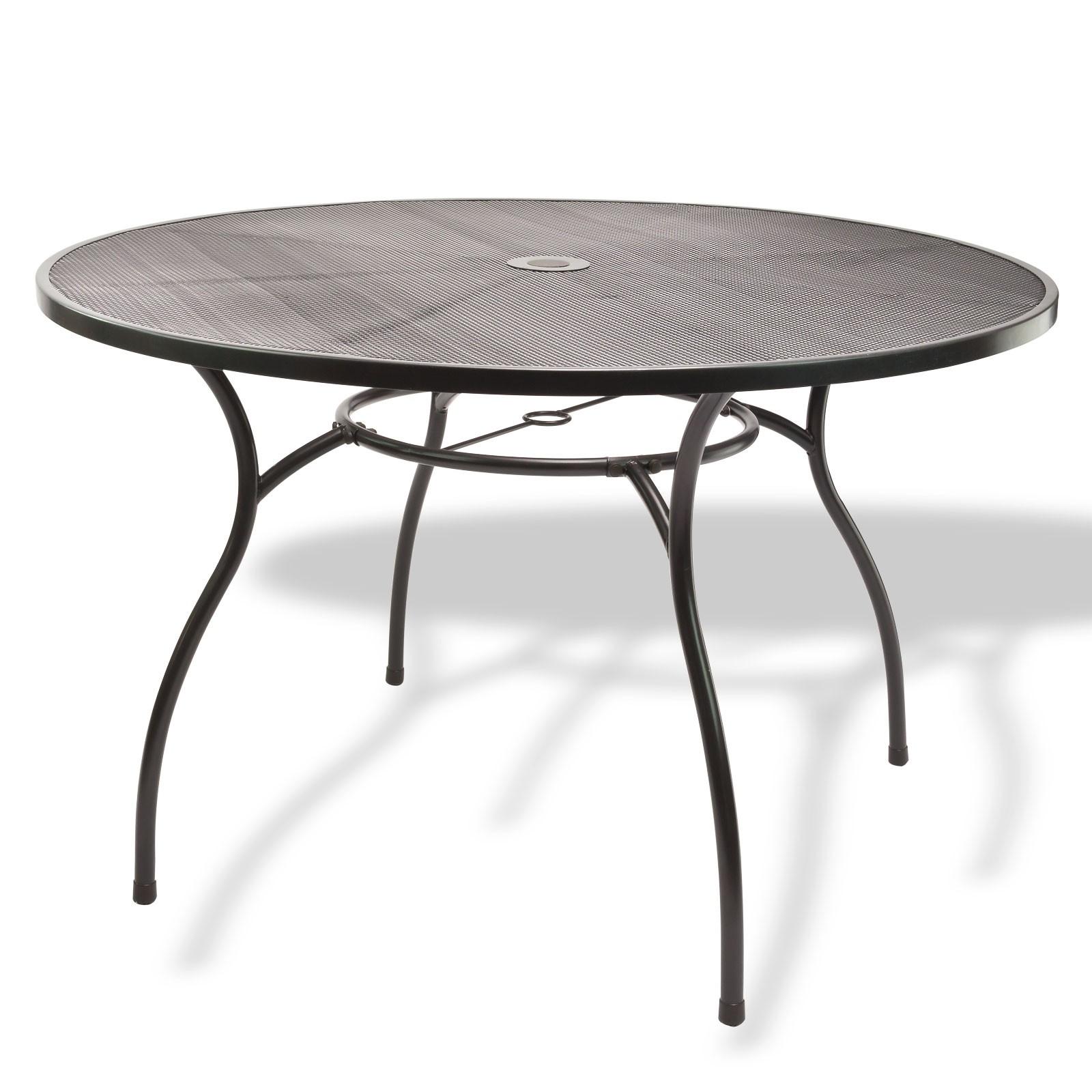 Gartenmöbel Metall 1 X Tisch Rund 120x71 + 4 X Stuhl Set