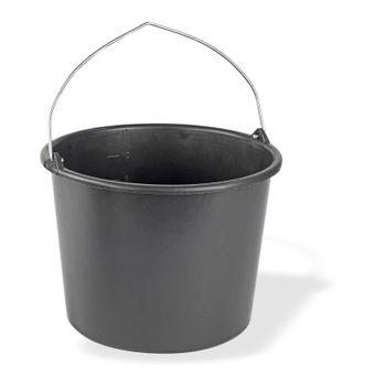 Baueimer / Mörteleimer 12 Liter Kunststoff d= 32cm h=24cm schwarz