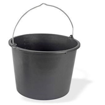 Baueimer / Mörteleimer 20 Liter Kunststoff d= 37cm h=27cm schwarz