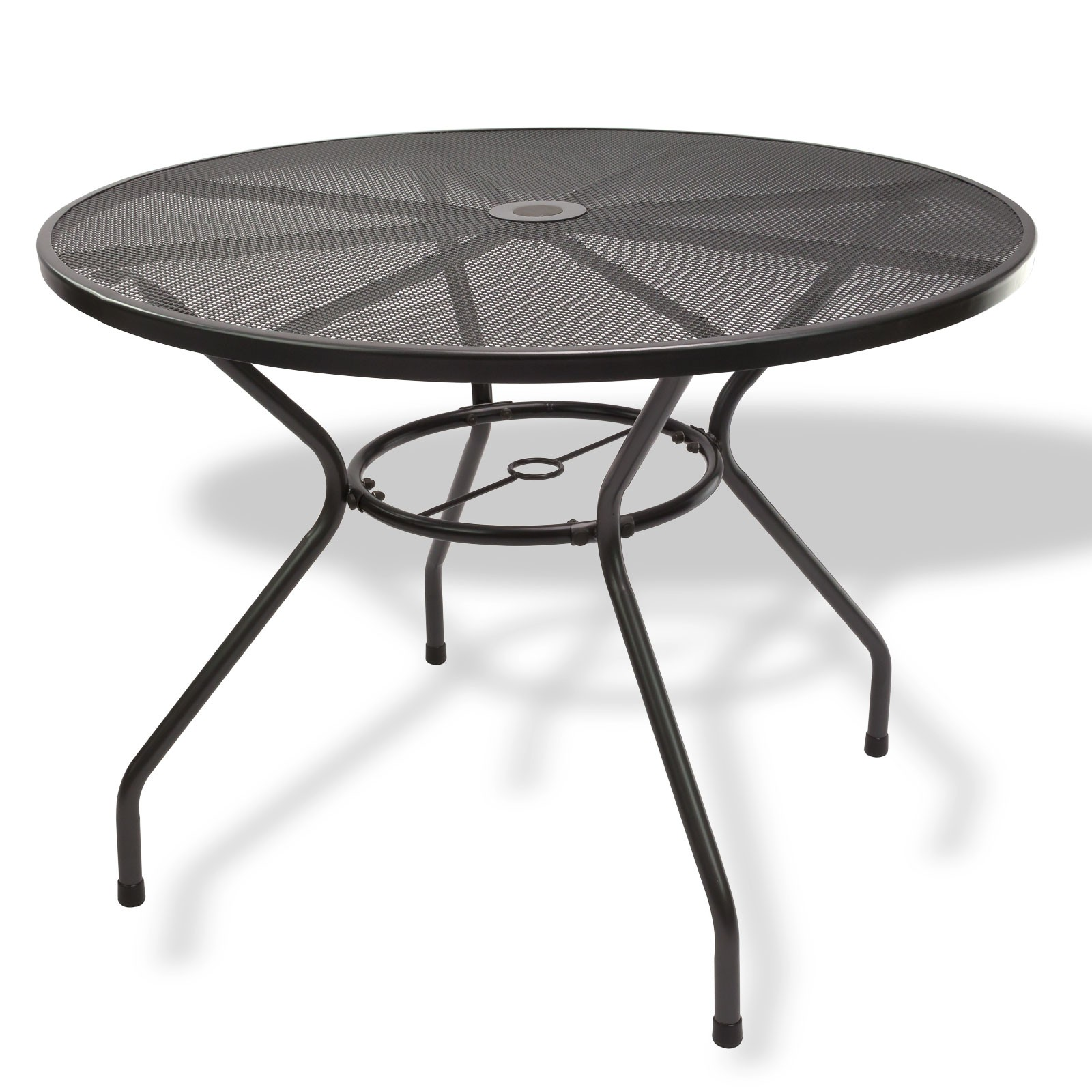 gartenm bel metall 1 x tisch rund 100x72 4 x stuhl set. Black Bedroom Furniture Sets. Home Design Ideas