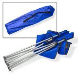 Campingstuhl / Faltstuhl blau Getränkehalter Tasche Anglerstuhl