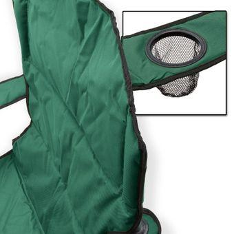 Campingstuhl / Faltstuhl grün Getränkehalter Tasche Anglerstuhl – Bild $_i