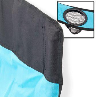 Campingstuhl / Faltstuhl hellblau Getränkehalter Trage-Tasche – Bild $_i