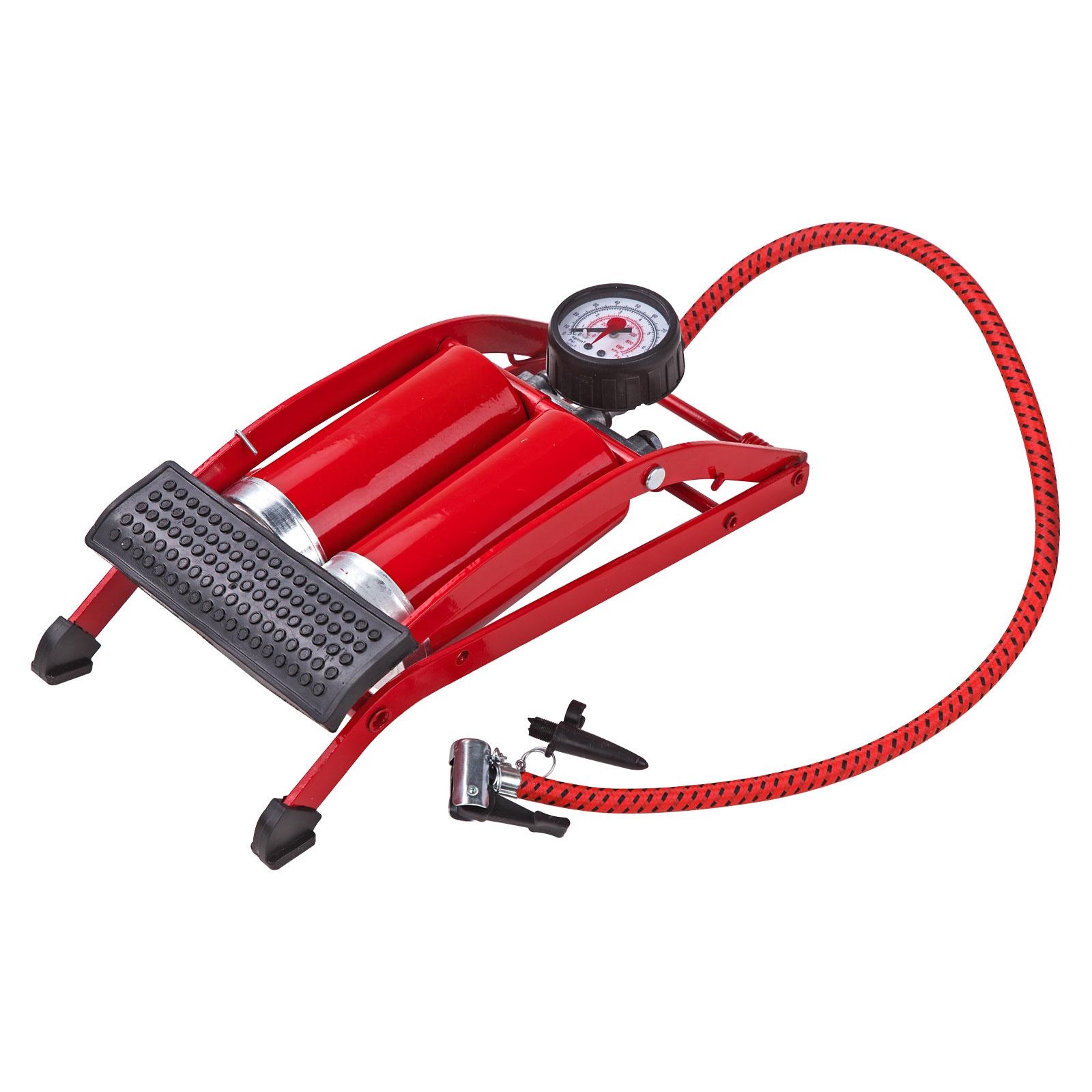 Dema Standluftpumpe Luftpumpe Tretluftpumpe mit Doppelzylinder 20543