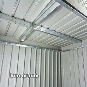 Gerätehaus / Gartenhaus Bristol Metall 2,4 qm – Bild $_i