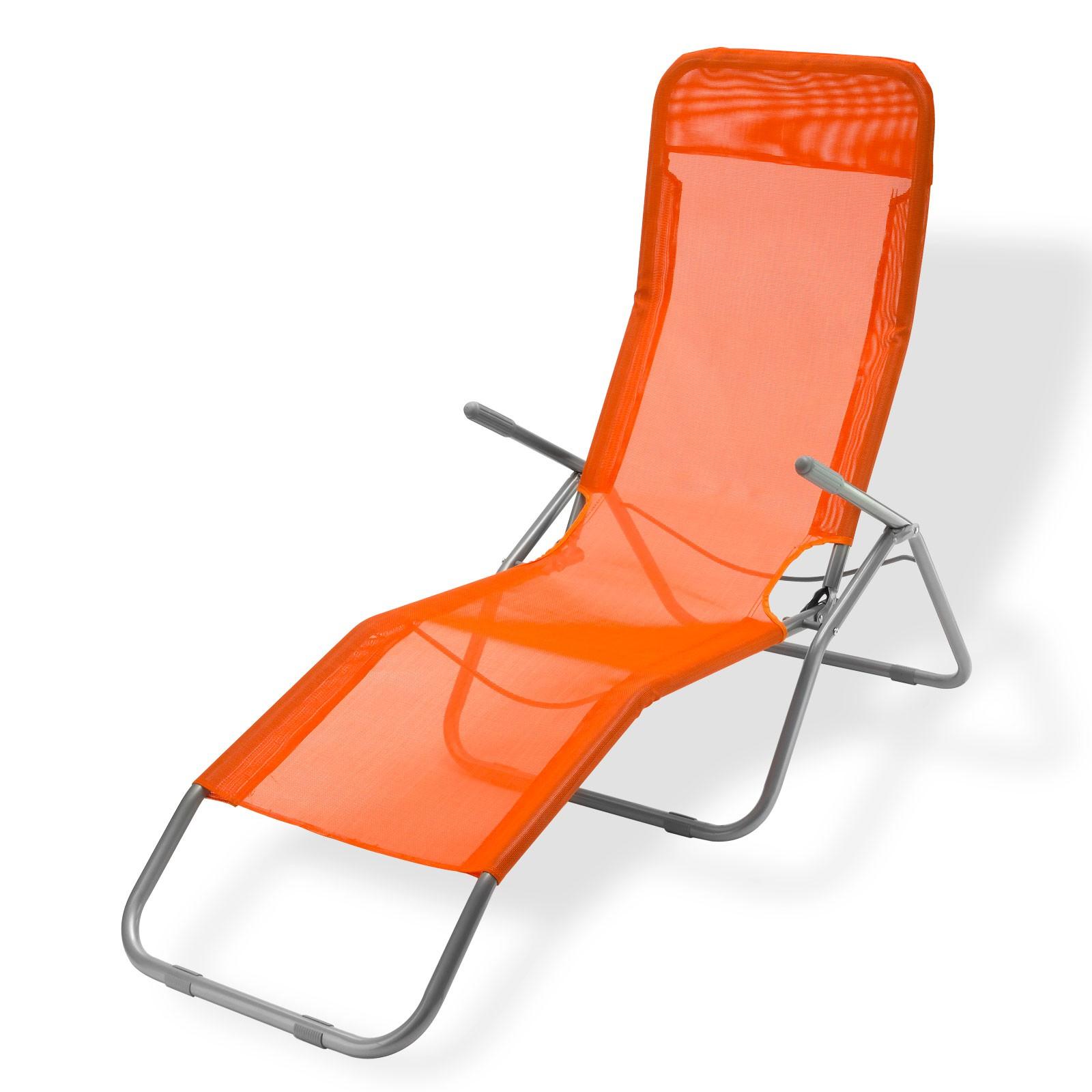 Dema Sonnenliege / Gartenliege Virginia Beach orange Relaxliege 94027