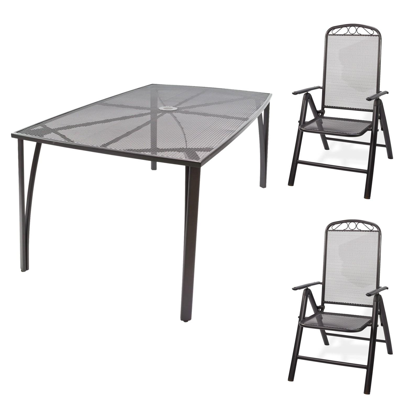 Gartenmobel Streckmetall 1 X Tisch 150x90x72 2 X Stuhl Set