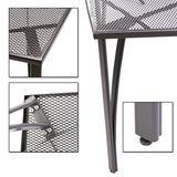 Gartenmöbel aus Streckmetall Set - 1 x Tisch + 4 x Stuhl