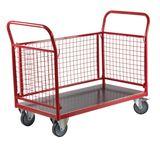 Transportwagen / Paketwagen mit 1 Boden und 4 Gitterwände