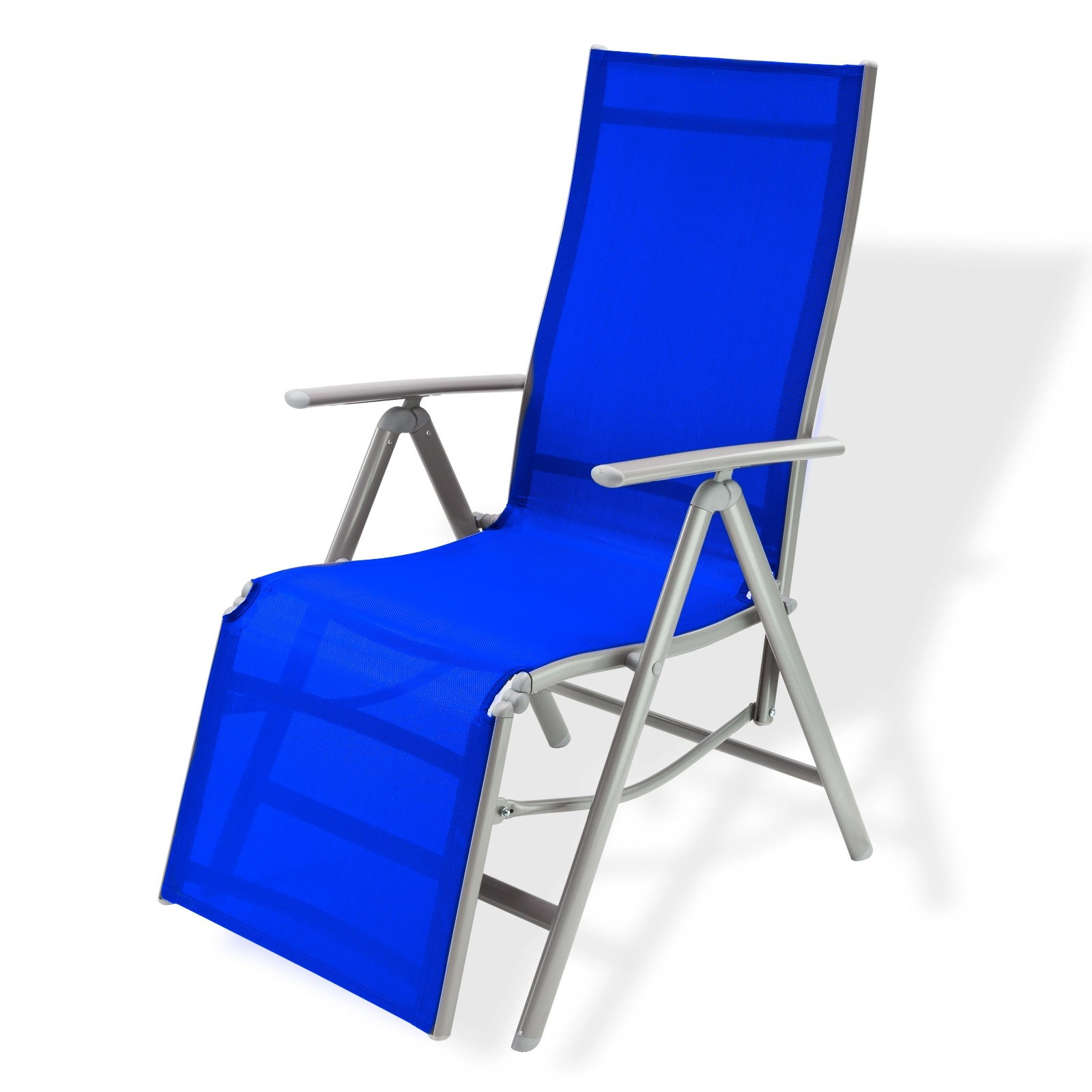 Liegestuhl / Gartenstuhl Hochlehner -Corona- blau