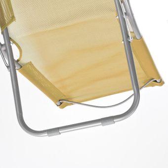 Klappstuhl / Gartenstuhl beige 50x88x65 cm – Bild $_i