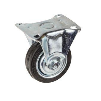 Transportrollen / Bockrollen gummiert d=75 mm bis 50 kg – Bild $_i