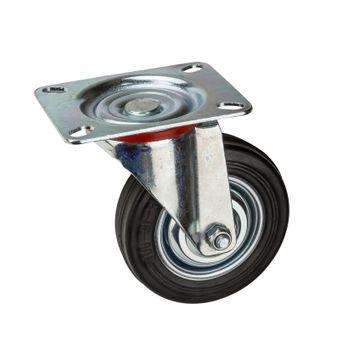 Transportrollen / Lenkrollen Vollgummi-Rad d=100 mm bis 70 kg