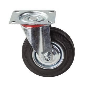 Transportrollen / Lenkrollen Vollgummi-Rad d=125 mm bis 100 kg