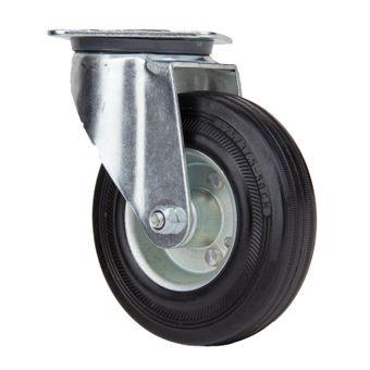Transportrollen / Lenkrollen Vollgummi-Rad d=160 mm bis 145 kg – Bild $_i