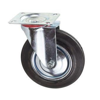 Transportrollen / Lenkrollen Vollgummi-Rad d=200 mm bis 185 kg