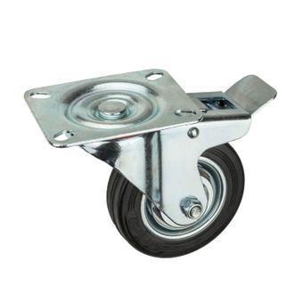 Transportrollen / Lenkrollen mit Bremse d=100 mm bis 70 kg – Bild $_i