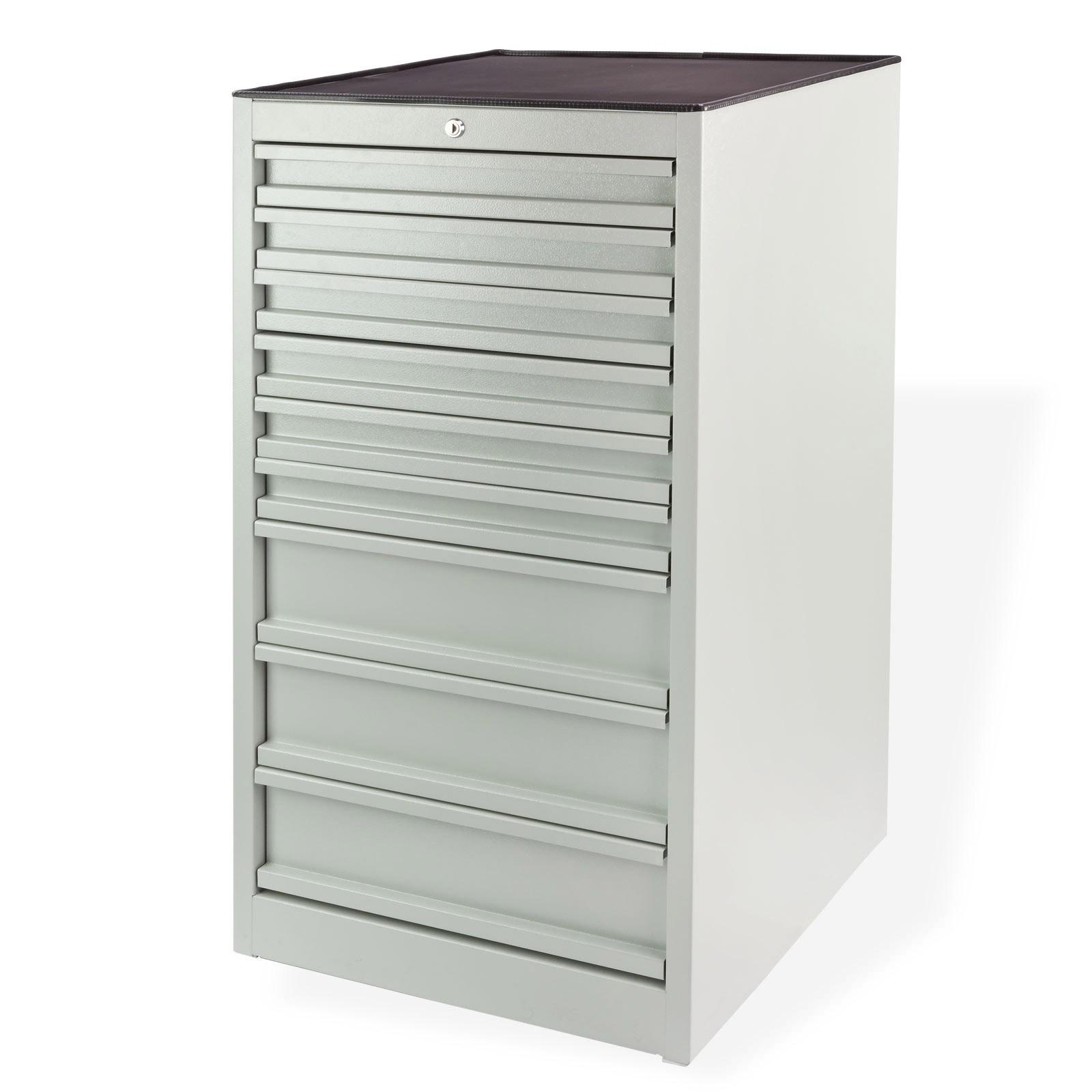 schubladenschrank werkstattschrank mit 9 schubladen lichgrau 60 x 63 x 111 cm. Black Bedroom Furniture Sets. Home Design Ideas