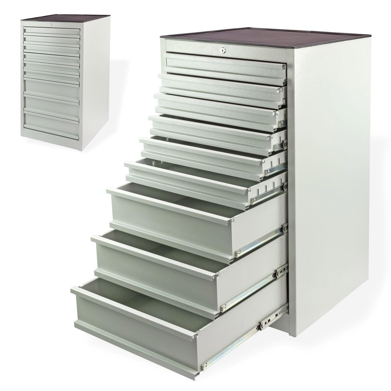 Schubladenschrank / Werkstattschrank mit 9 Schubladen, Lichgrau, 60 ...