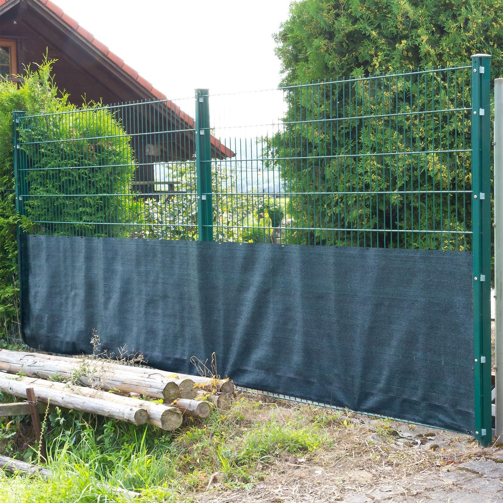 Sichtschutz Zaunblende Tennisblende Windschutz Schattiernetz 25x1 2 M