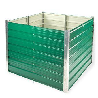 Metall Hochbeet Rosendaal, grün, 99x99x80 cm, Langlebig Verzinkt – Bild $_i