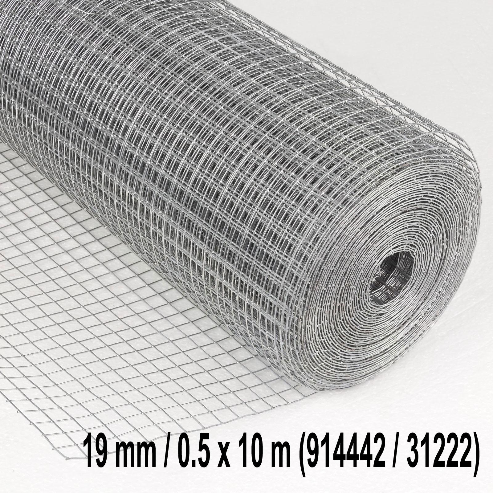 Dema Drahtgitter Volierendraht Maschendraht 13mm oder 19mm 4eck d= 0.8mm verzinkt var-4eckdrahtgitter