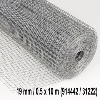 Drahtgitter / Volierendraht 13 oder 19mm-4eck d= 0.8mm verzinkt – Bild $_i