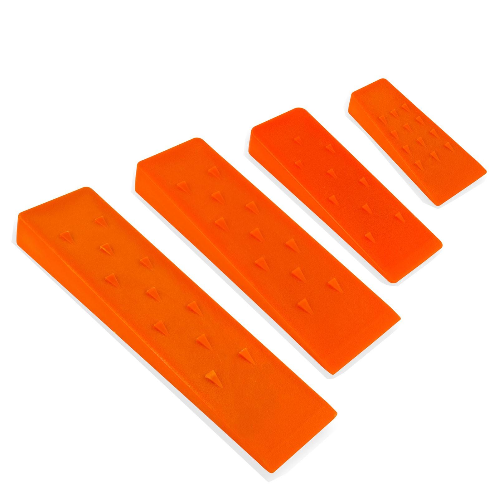 Dema Spaltkeile / Fällkeile Kunststoff 4er-Set schlagzäh orange spaltkeil-kunststoff-set-4er