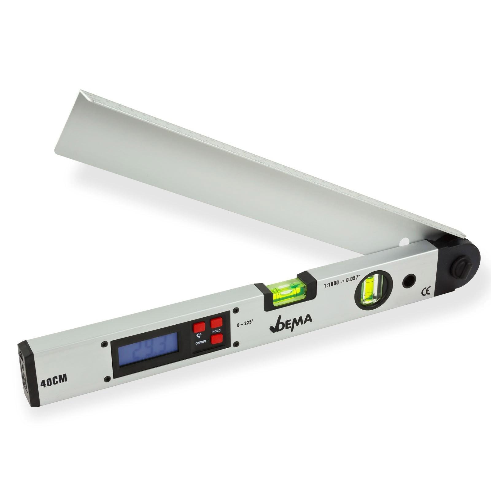 Dema Digitaler Winkelmesser mit Wasserwaage 40 cm Winkelmessgerät Gradmesser 20638
