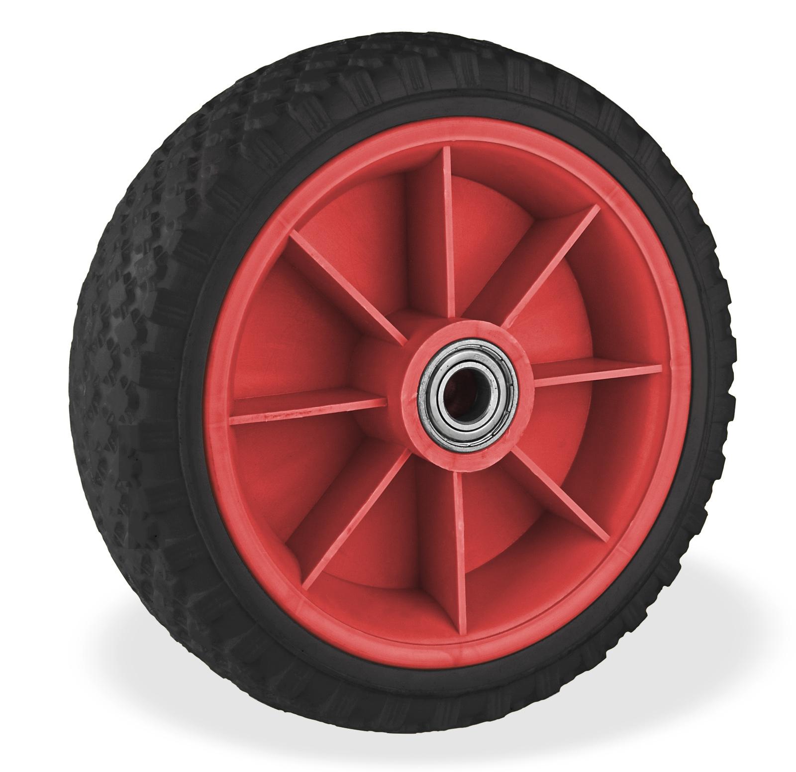 Dema 2 Stück PU Schubkarrenrad Schubkarren Reifen 65x220 unplattbar pannensicher 21350x2