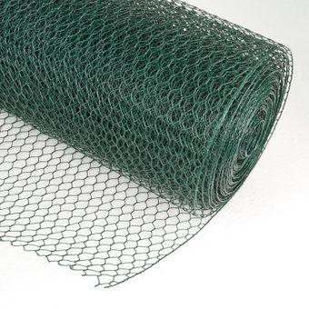 Drahtgitter Volierendraht 13mm 6eck 0.5x25m grün d=0.8mm Drahtzaun Maschendraht – Bild $_i