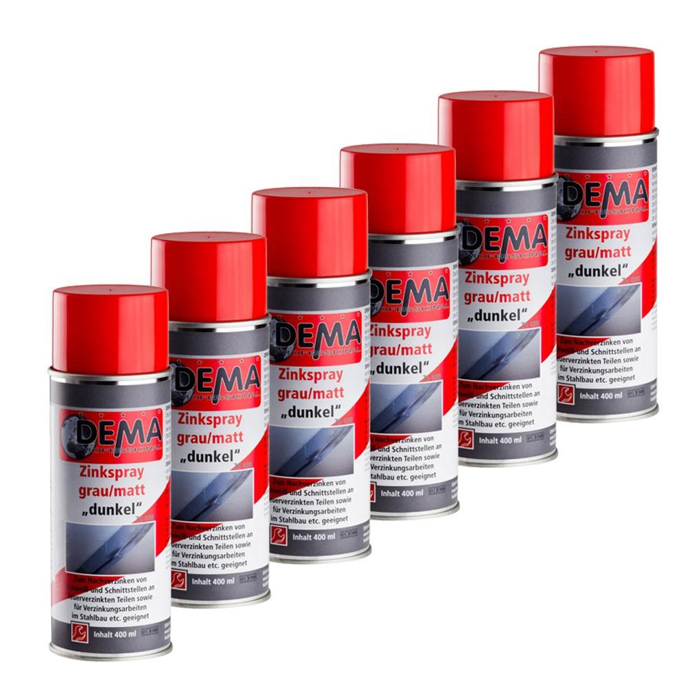 Dema Zink Spray Set 6 x 400 ml grau matt Zinkspray 21117set6er