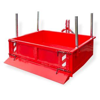 Heckcontainer / Kippmulde Kat 1 + 2 hydraulisch 125x200x40 cm – Bild $_i