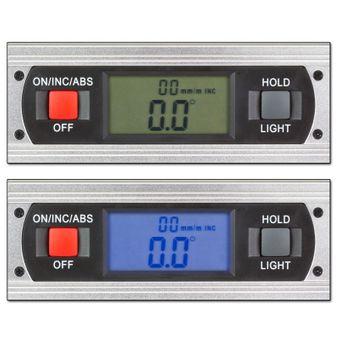 Alu Wasserwaage Messgerät elektronisch digital 40 cm Winkelmesser + Magnethalter – Bild $_i