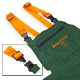 Forst Schnittschutz-Latzhose ECO grün/orange S-XXXL  EN 381-5