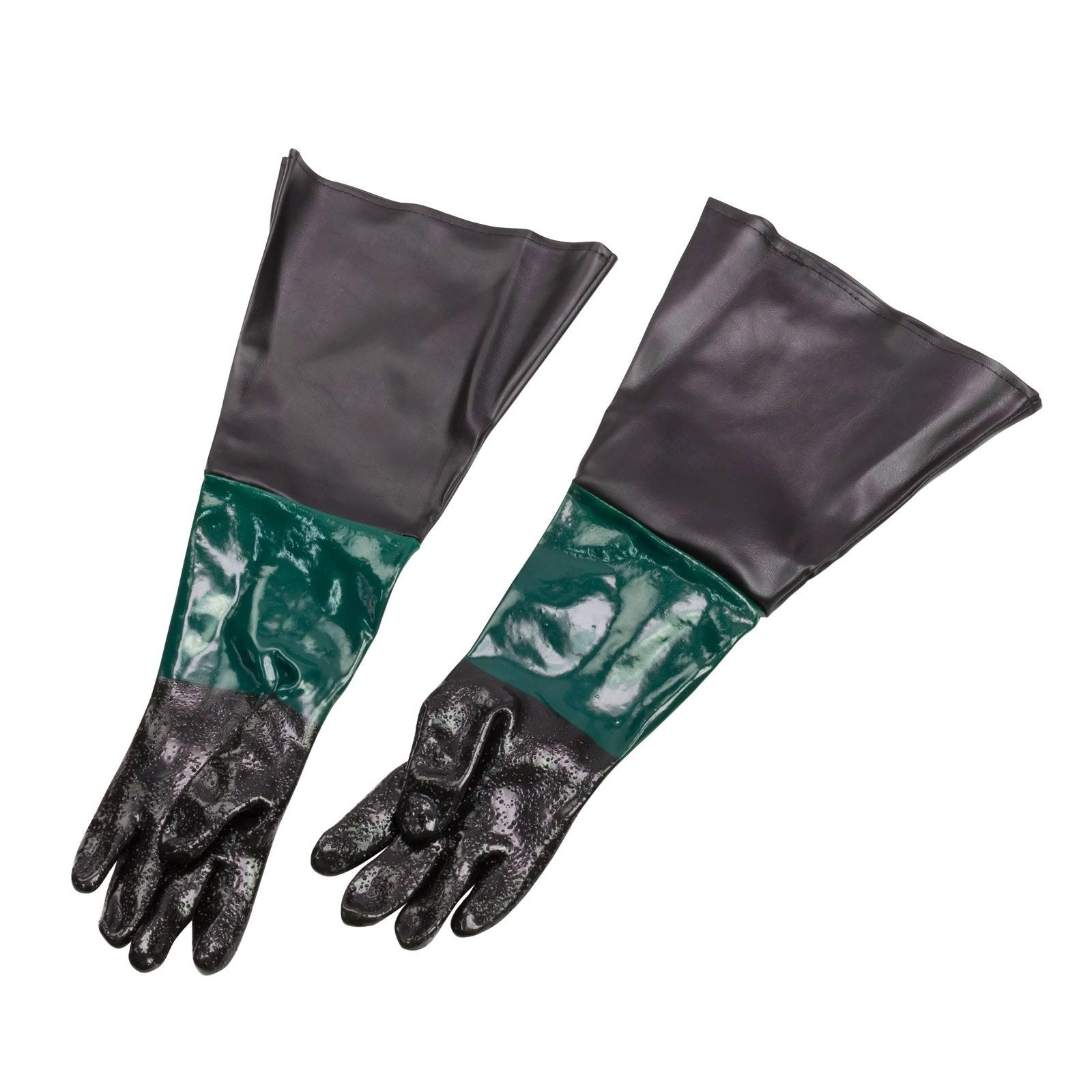 Dema Sandstrahl Handschuhe Paar Gummihandschuhe Sandstrahlkabine ZA24656