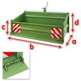 Heckcontainer / Heckmulde 1800S, Mechanisch, 180x104x103 cm, bis 1000kg